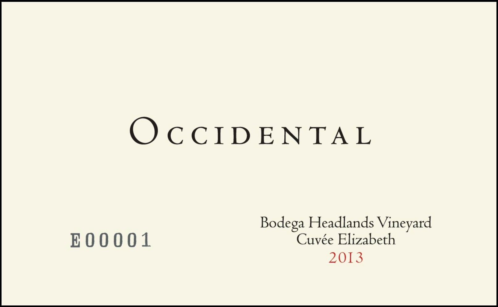 2013_Occidental_Cuvee_Elizabeth_Pinot_Front_Label_framed