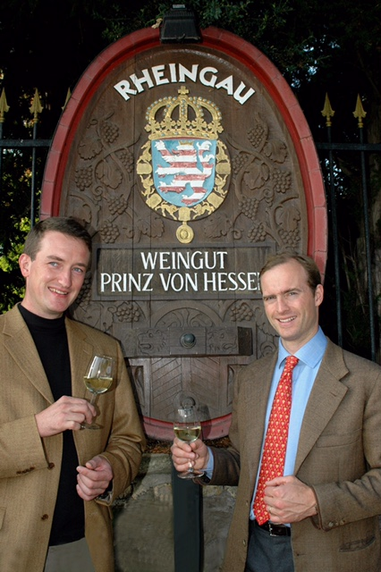 HRH Donatus Prince of Hessen and the director of the estate Mr. Clemens Kiefer